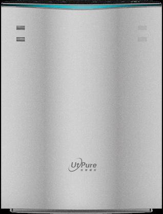 银色空气净化器外观图