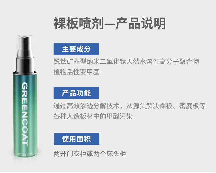 裸板喷剂,产品说明